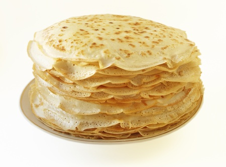 A stack of pancakes - Russian traditional dish. Stock Photo