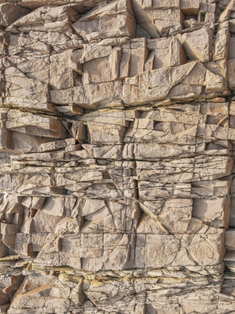 cranny: Cranny surface of brown stone