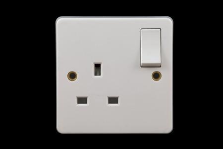 energia electrica: toma de corriente del Reino Unido en posici�n de apagado