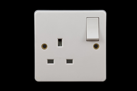 power off: UK power socket in off position Stock Photo