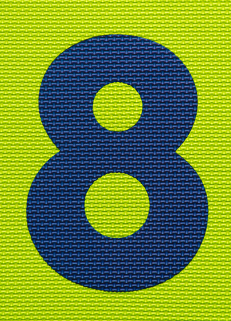 textured: Textured Number Eight Background