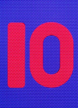 number ten: Textured Number Ten Background