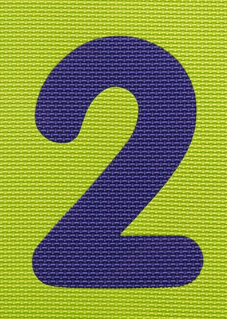 two: Textured Number Two Background