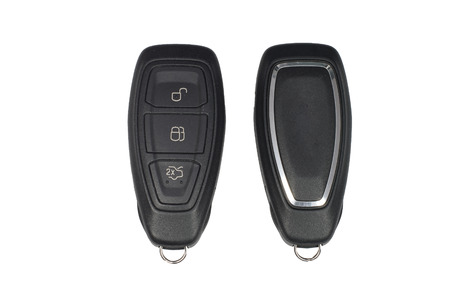 fob: Keyless car key fob showing front and back Stock Photo