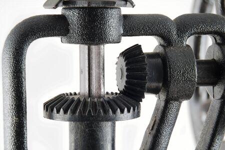 Close up of bevel gear cog wheels Standard-Bild