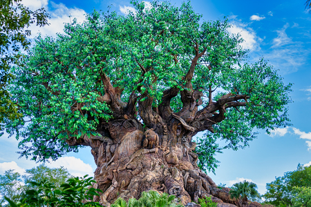 ORLANDO, FLORIDA USA. MAY  03, 2019: The Tree of Life at Disneys Animal Kingdom