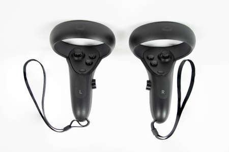 CHESTER, UNITED KINGDOM - APRIL 11th 2020: Oculus Quest VR Headset controlers