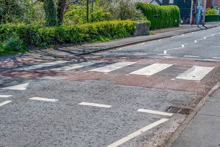 A Raised Zebra crossing in the UK which alco acts sa a speed hump