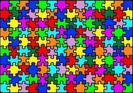 Bright colourful and vibrant multicolour jigsaw puzzle