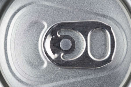 Close macro image of the push tab on the top of a drinks can Standard-Bild