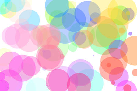 Computer generated abstract background. Multi colour pastel shade circles Standard-Bild