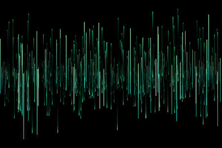 Computer generated abstract background. Random effect various line bars