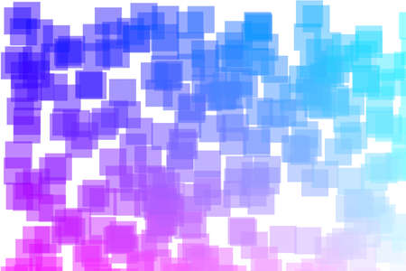 Computer generated abstract background. Bright coloured squares
