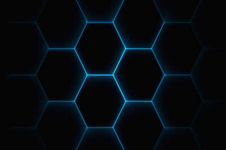 Computer generated abstract background. Joined faded hexagon repeating pattern Standard-Bild