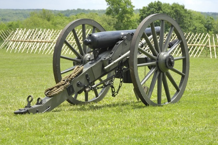 Civil War muzzle loading artillery cannon