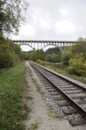 railway transportation: Cuyahoga Valley National Park  Ohio  Railroad System Stock Photo