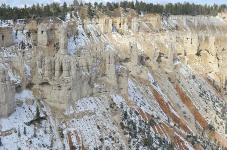 natural wonders: National Parks   natural wonders of Utah during snow storm