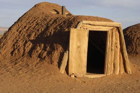 natural wonders: National Parks   natural wonders of Utah   Native American dirt lodge Stock Photo