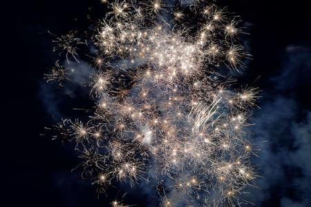 4. van juli Vuurwerk Stockfoto
