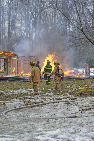 house fire: Controlled House Fire