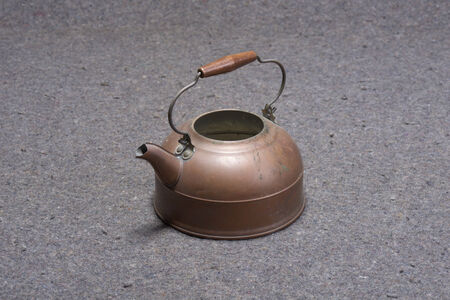 Brass Tea Pot Stock Photo