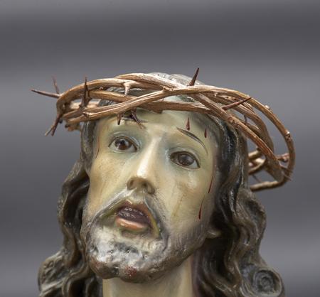Jesus Christ ornament depicting Christ with crown of thorns and bleeding Reklamní fotografie