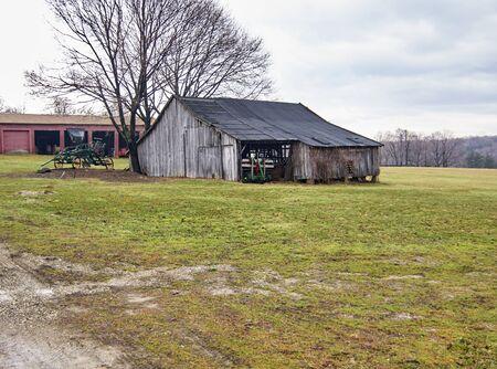 safekeeping: Century Village - Burton, Ohio - farm equipment shed