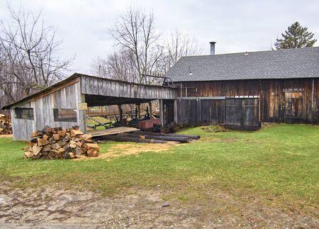 storage bin: Century Village - Burton, Ohio wood shed