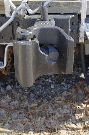 Railroad Caboose car coupling hitch