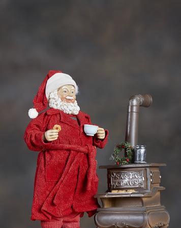 Santa Claus ornaments for the Christmas Holiday Season Stock Photo