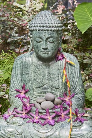 Buddha figurine at Selby Botanical Gardens, Floridas