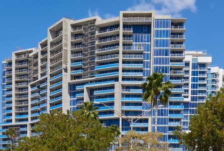 Sarasota, Florida office building under construction Editorial