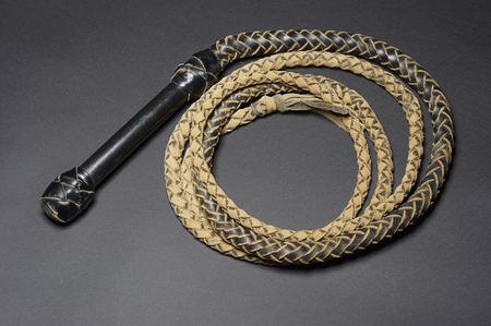 コイル革鞭 写真素材