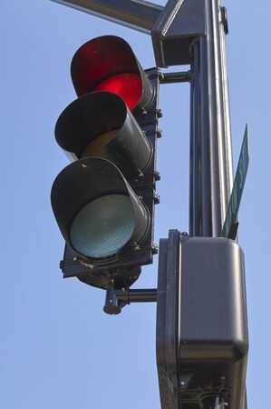 traffic light in small village community