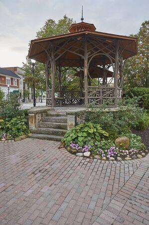 village community bandstand during summer months Imagens