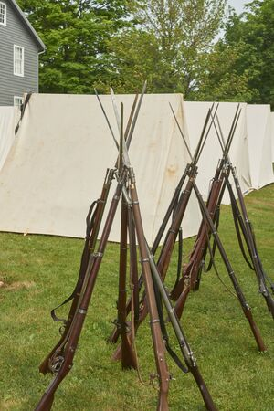 American Civil War Springfield 1861 rifled infantry soldiers weapon