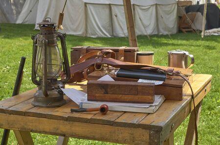 American Civil War Military bivouac and camp life re-enactment