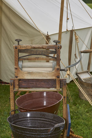 American Civil War Military bivouac and camp life re-enactment