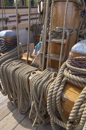 デラウェア州ルウェス歴史協会背の高い船のお祝い 写真素材