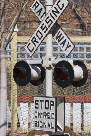 Railway Crossing for safety Standard-Bild