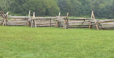 Wooden picket fencing on Gettysburg battlefield
