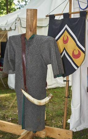 12th Century Armor on display Stok Fotoğraf