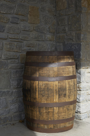 Great Smoky Mountain National Park. Tennessee USA.  Barrels for distilling bourbon and whiskey. Stock Photo