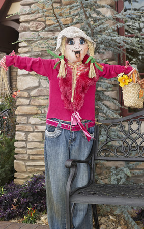 Great Smoky Mountain National Park. Tennessee USA. Halloween Season with scarecrows and