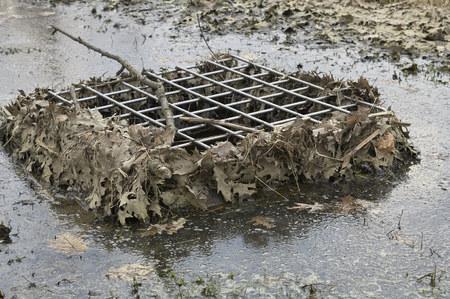 spillway in pond