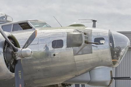 World War II B-17 Bomber at Burke Lakefront Airport Cleveland, Ohio USA