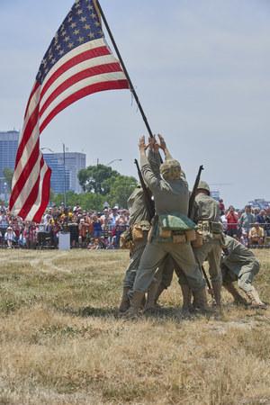 Marine Week1 - Cleveland, Ohio:  Iwo Jima flag raisingJune 16, 2012