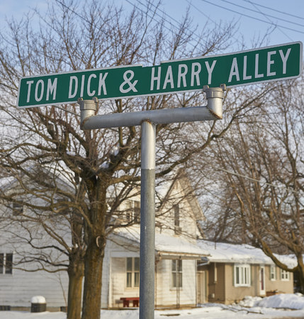 Unique street sign