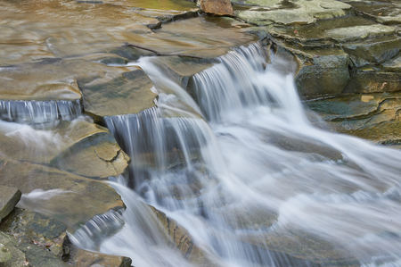 waterfallrapids on chagrin river in the village of Chagrin Falls, Ohio USA