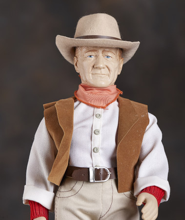 Figurine of cowboy with hat and rifle Imagens